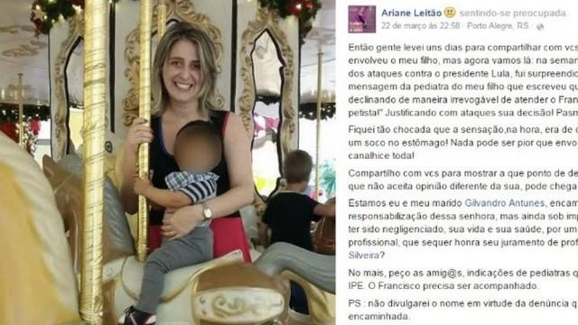 médica pediatra mãe ariane leitão