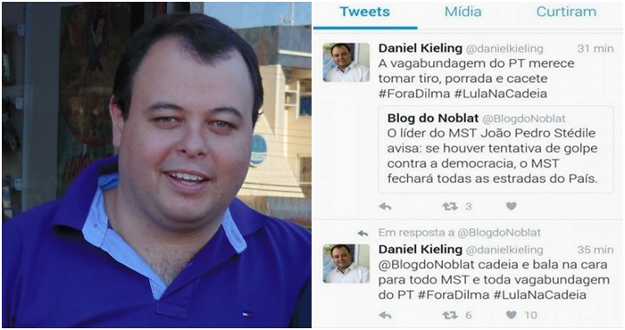 Daniel Kieling ódio pt direita pmdb vagabundo