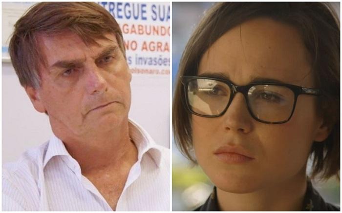 Ellen Page Jair Bolsonaro