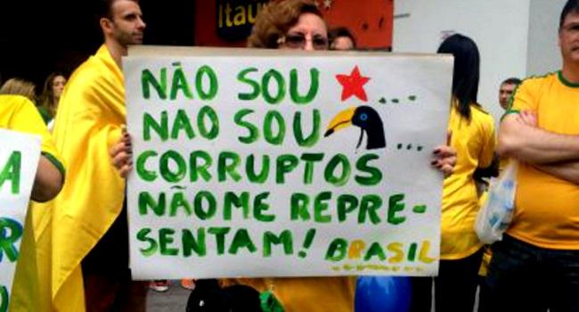 corrupção bandeira mudar brasil hipocrisia