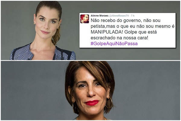 Alinne Morais Glória Pires golpe impeachment