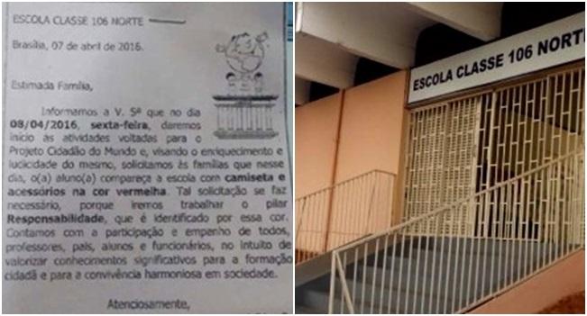 escola brasília alunos vermelho comunismo
