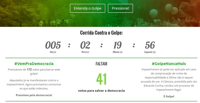 mapa democracia golpe impeachment