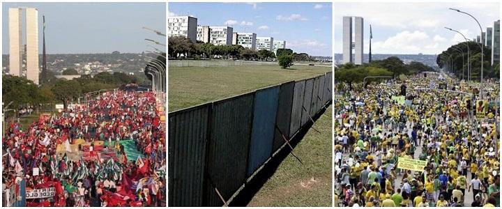 muro Brasília impeachment cunha manifestantes