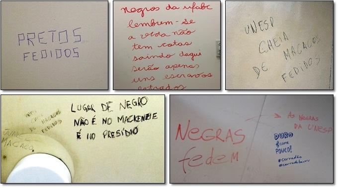 pichações racistas banheiro universidades negros