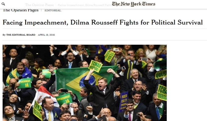 the new york times impeachment dilma