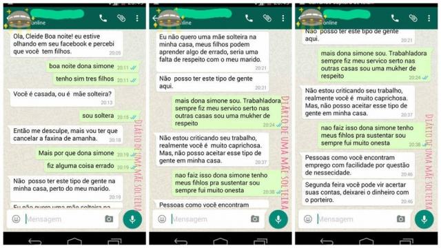 faxineira mãe solteira diálogo demitida