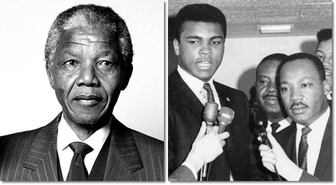 Mandela Luther King Muhammad Ali negros racismo