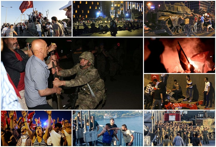 golpe militar Turquia imagens