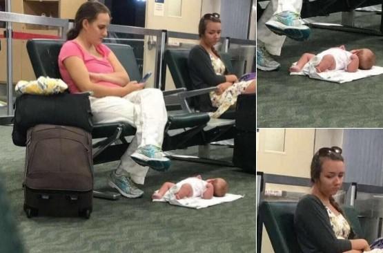 foto mãe bebê fora de contexto