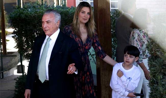Michel Temer Marcela família políticos religi~]ao conservadorismo