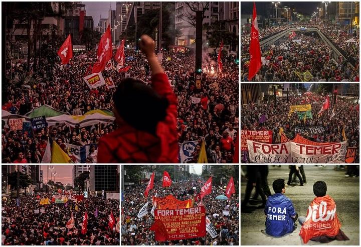 manifestações fora temer diretas já