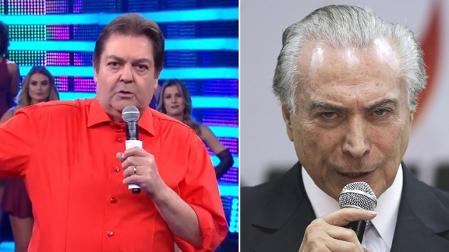 Michel Temer Faustão Telefonema