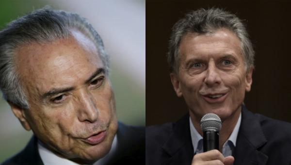 Michel Temer Mauricio Macri Argentina