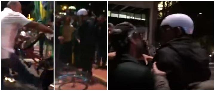 ciclista agredido avenida paulista