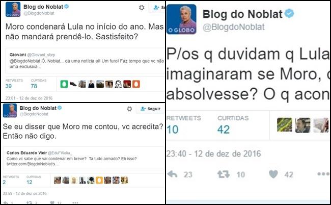 Lula Sergio Moro Noblat Globo