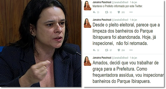 janaina paschoal inspetora banheiros prefeitura são paulo psdb