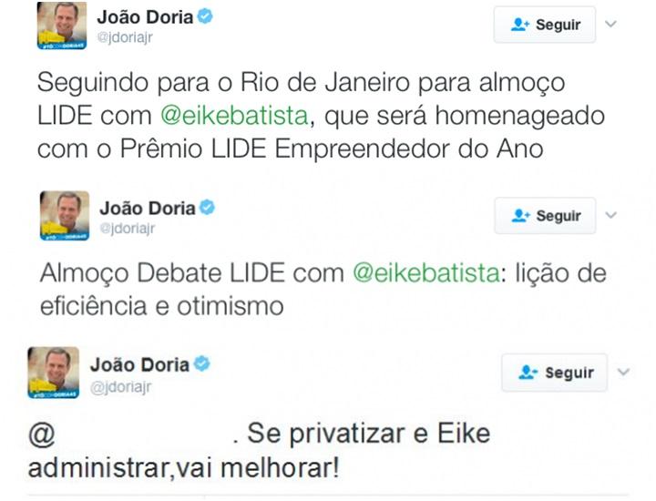 João Doria Jr Eike Batista
