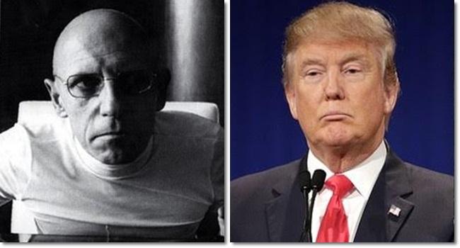 Michel Foucault Donald Trump refletindo