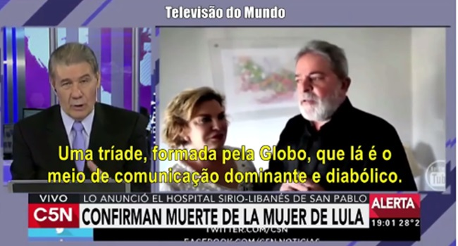 tv argentina globo diabólica golpista assassina