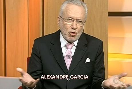 Alexandre Garcia estupro atriz