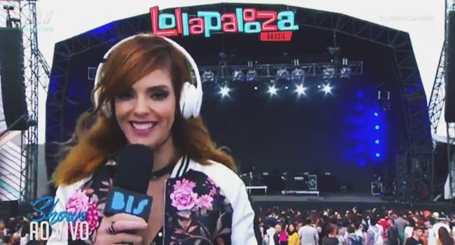 Titi Müller apresentadora dj borgore Lollapalooza