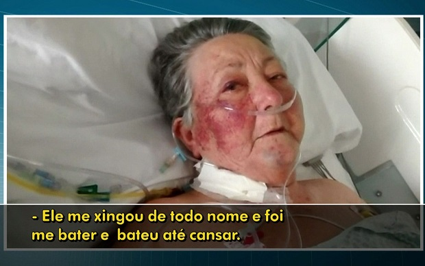 idosa espancada enfermeiro hospital uti