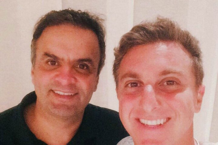 Luciano Huck fotos Aécio Neves