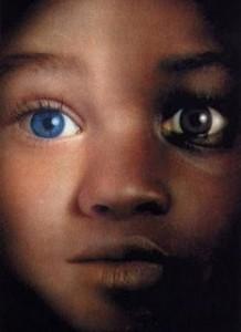 olhos azuis dor do preconceito negro