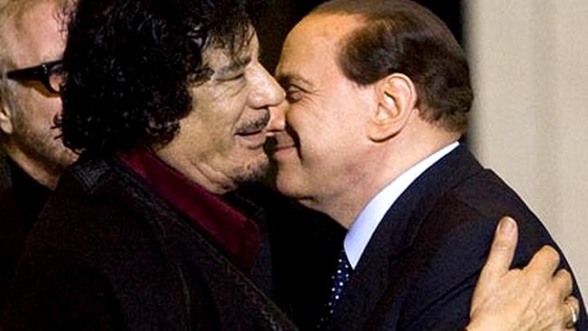 kadafi líbia ameaça arquivo Berlusconi