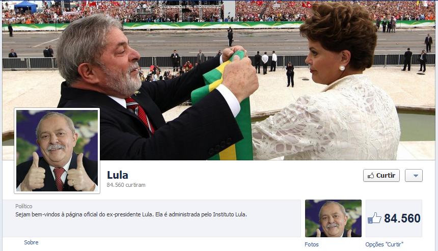 Lula inaugura Facebook página