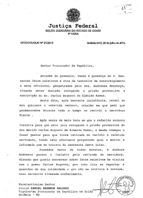 documento andressa cachoeira veja policarpo
