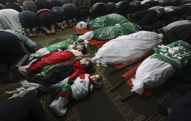 palestinas crianças mortas massacre israel