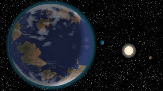 Superterra astronomia área habitável do espaço HD 40307
