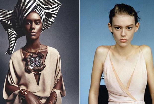 revista francesa modelo negra branca