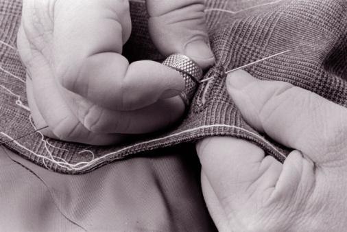 preconceito homem costurar