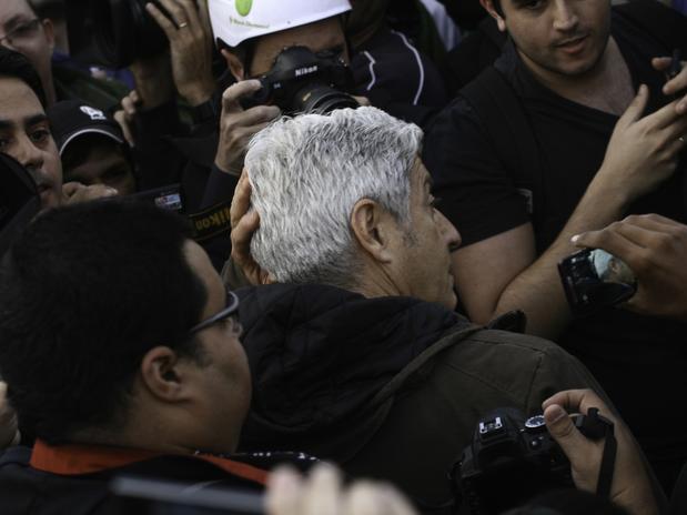 caco barcelos Globo é expulsa de manifestação SP
