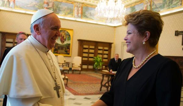 dilma papa francisco ateus do Brasil têm medo