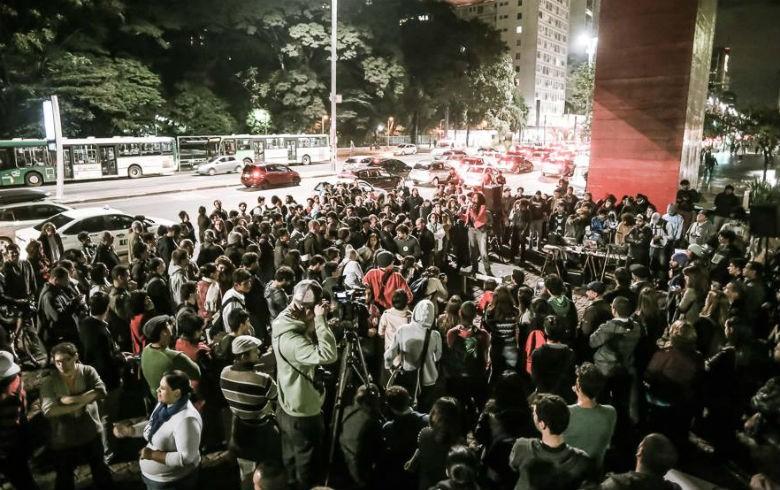 Protesto na sede da Globo são paulo