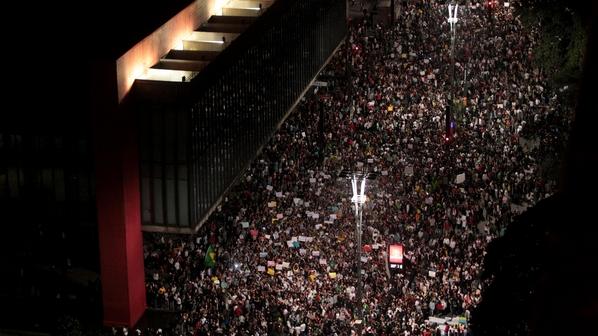 protestos brasil milhares são paulo
