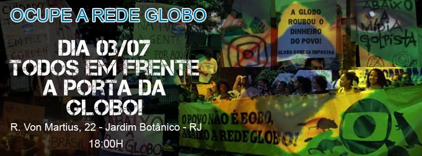 Globo é expulsa de ato na Favela da Maré protesto rio de janeiro