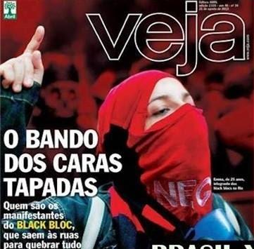 revista veja Menina Black Bloc emma