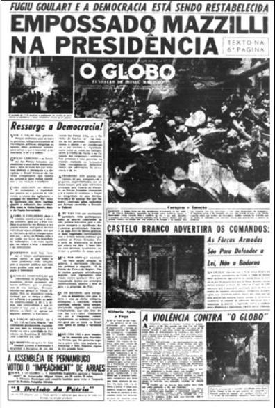 Globo errou apoio à ditadura militar