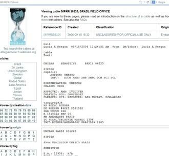 wikileaks criança esperança