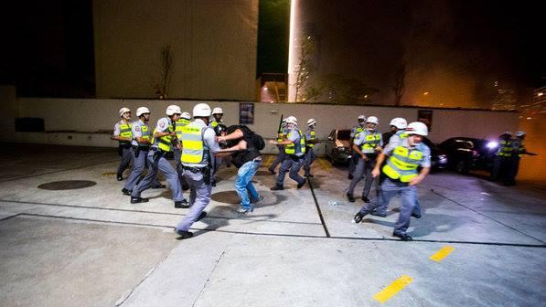 violência pm fotógrafo espancado