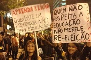 manifestação professores rio de janeiro
