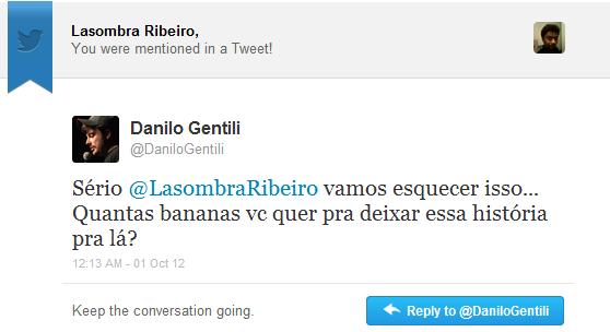 danilo gentili banana negro twitter