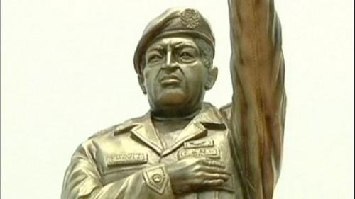 estátua evo morales estátua de Chávez bolívia