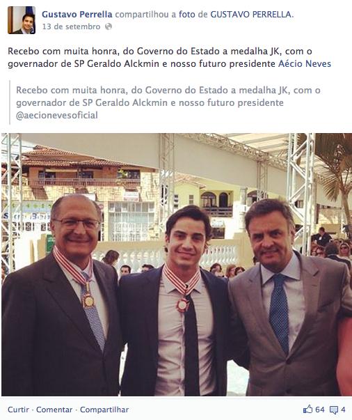 Aécio e Alckmin helicóptero da cocaína minas gerais
