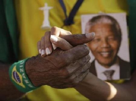 Dilma Obama Raúl Castro homenagem a Mandela